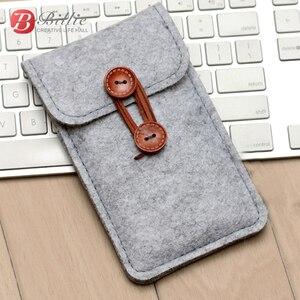 Image 4 - El yapımı yün keçe cüzdan arpacık iPhone 8 için artı 5.5 inç iPhone için kılıf 6S 7 8 4.7 inç için cep telefonu çanta şeffaf kılıf kapak