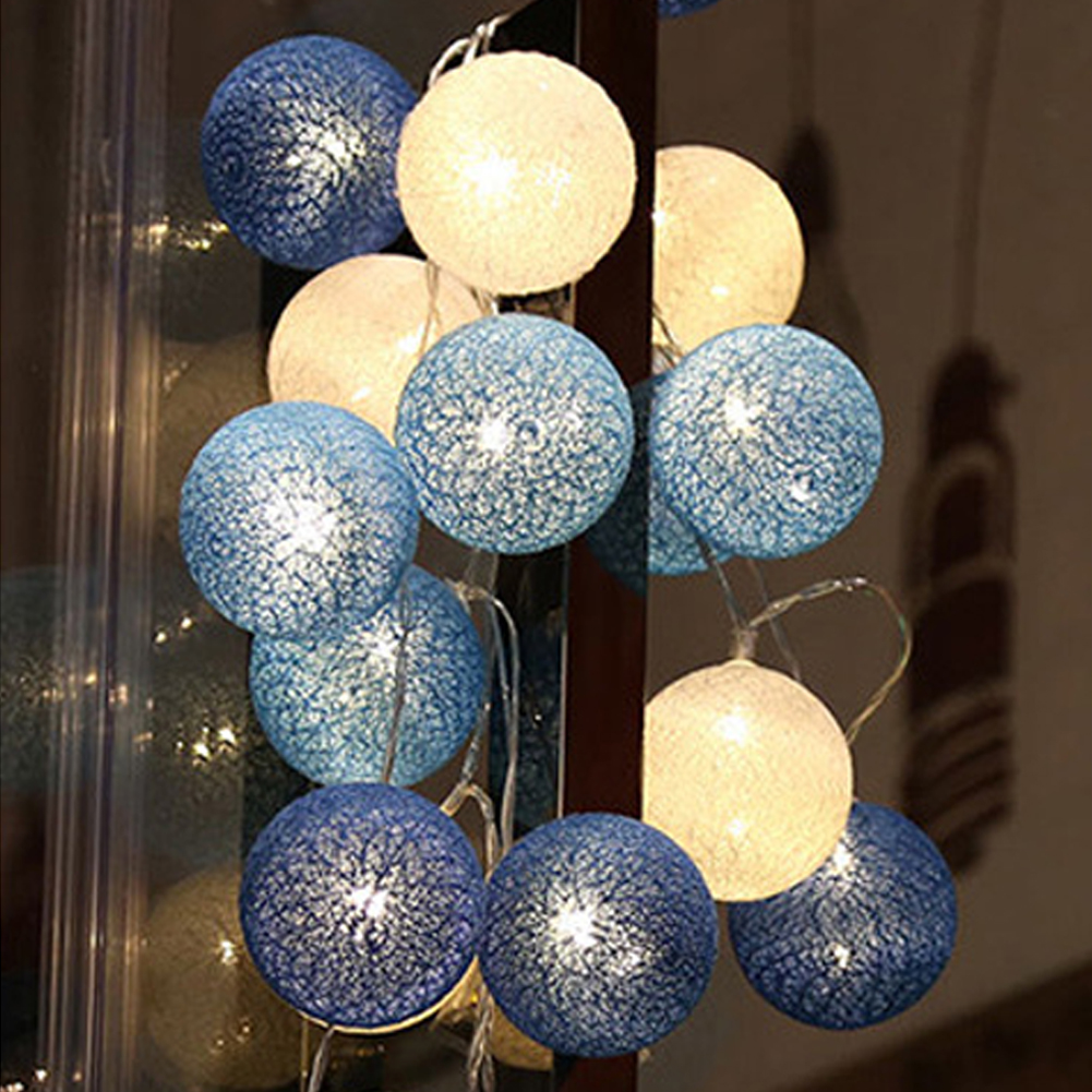DIY Fairy Light Atmosphere Lamp LED Lamp Cotton Ball Durable Practical Party Supplies Christmas Decor String Light Garland