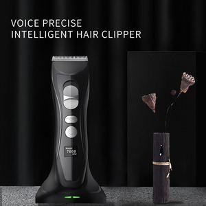 Image 5 - לילי מקצועי גוזז שיער באיכות גבוהה שיער גוזם למספרה גברים חשמלי מכונת גילוח שיער מכונת חיתוך חכם LCD תצוגה
