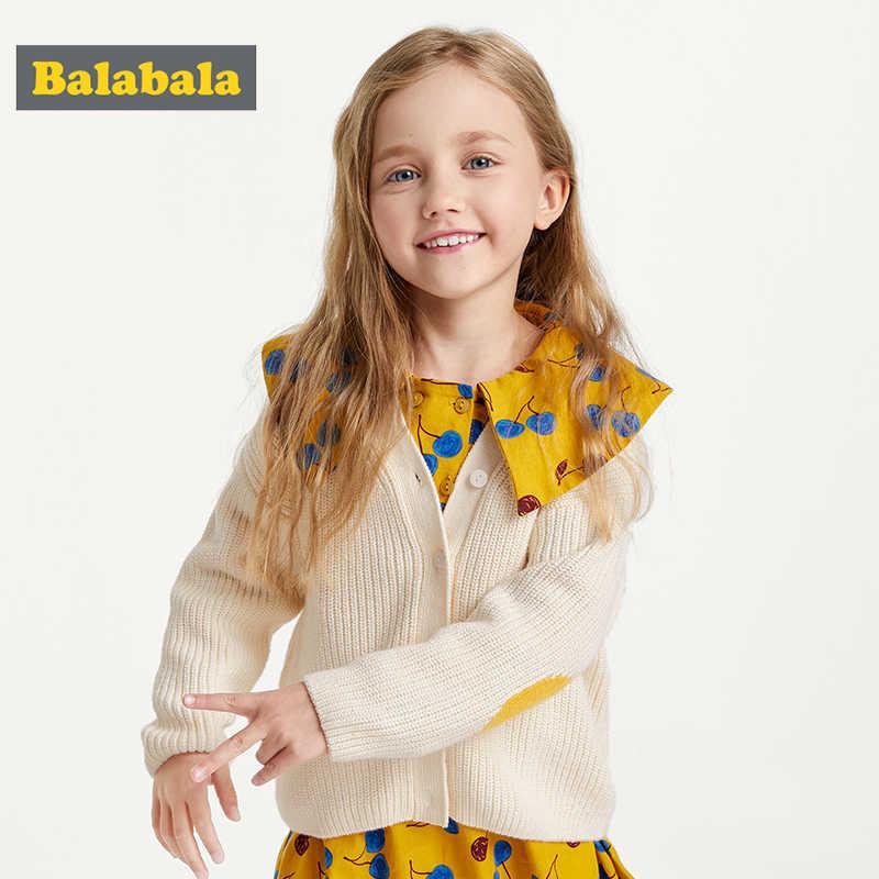 Balabala 아동 의류 여자 스웨터 한국어 버전 2019 새로운 가을 공주 스웨터 아기 카디건 탑스