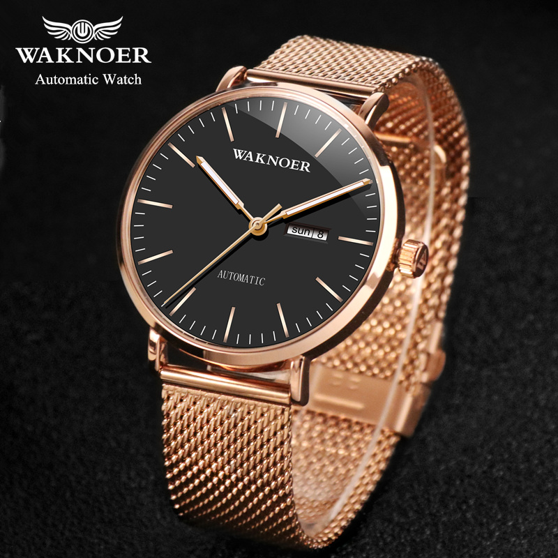 Women mechanical watches Simple Romantic Rose Gold Watch Women s Wrist Watch Ladies watch relogio feminino reloj mujer DROP D7