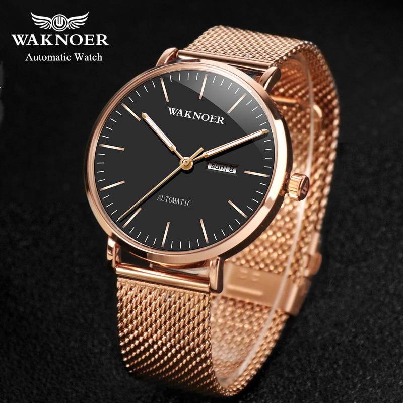 Women Mechanical Watches Simple Romantic Rose Gold Watch Women's Wrist Watch Ladies Watch Relogio Feminino Reloj Mujer DROP D7