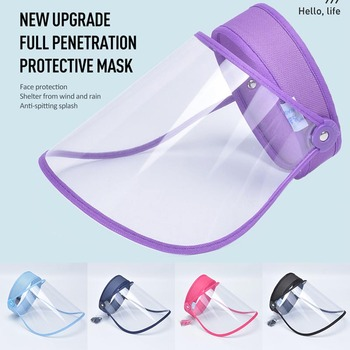 Shield Mask Anti Saliva Fog Dust Full Face Cover Mouth Mask Protective Visor Shield Droplet Face Shield Transparent