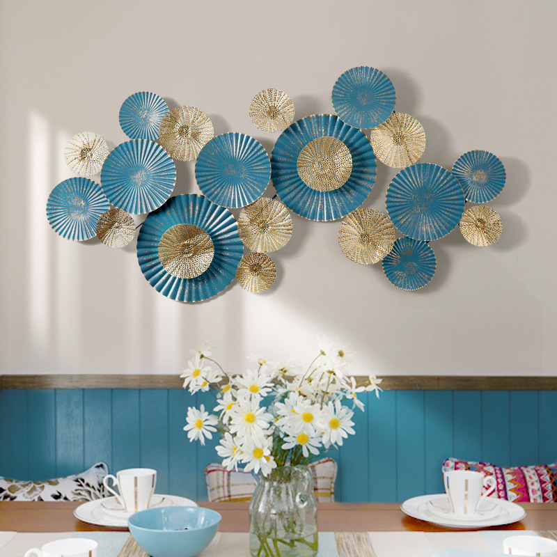 Decoración de pared de hierro de estilo europeo, decoración de pared tridimensional, decoración creativa de sala de estar - 5