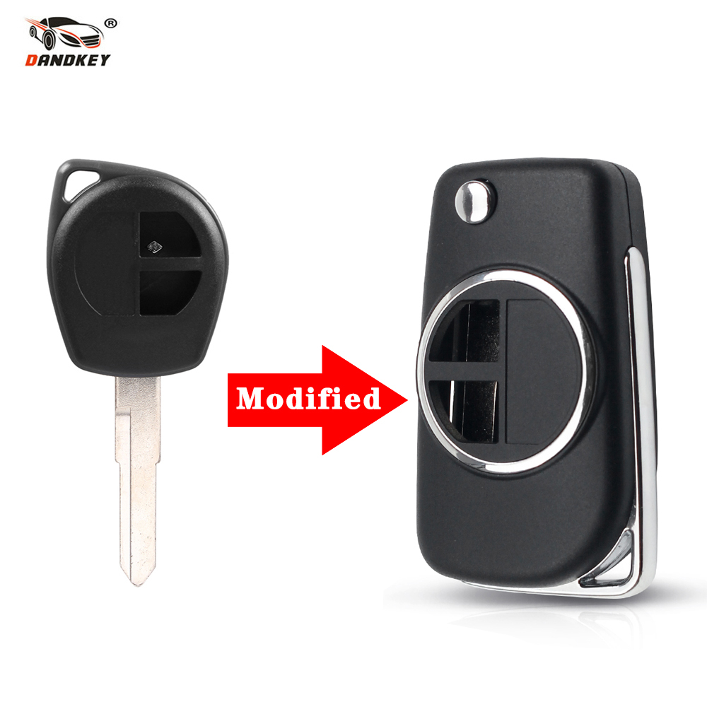 Dandkey Shell Blank Remote-Key Hu133r-Blade Flip Alto Suzuki Swift Vitara Car-Key-Case title=