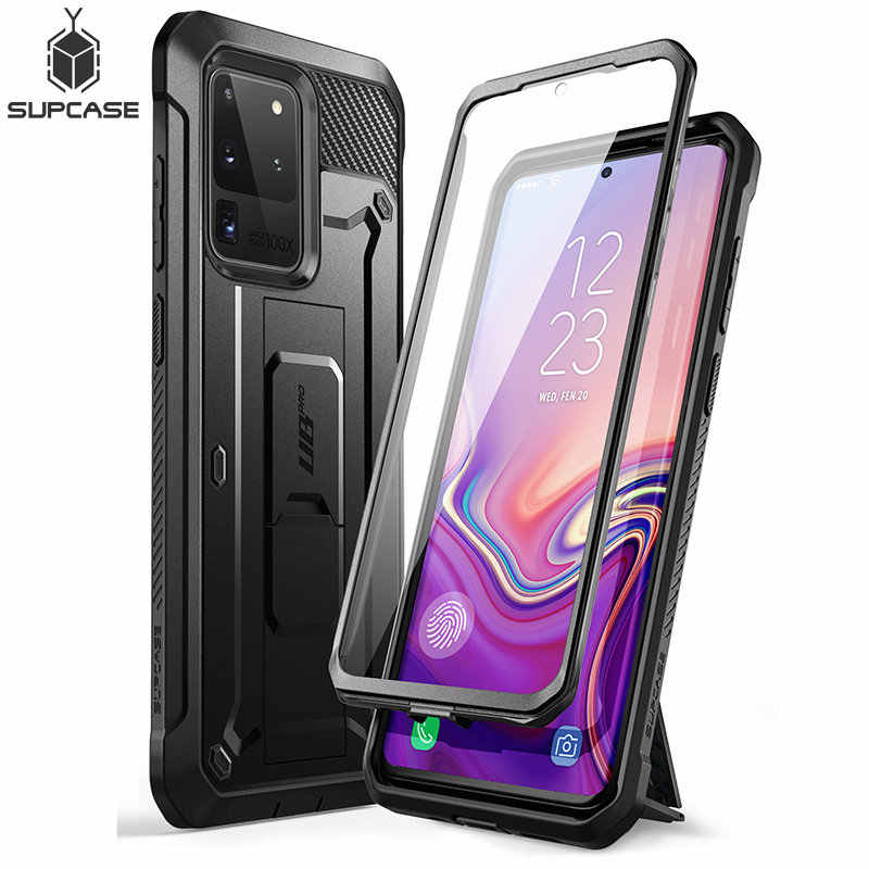 Supcase Voor Samsung Galaxy S20 Ultra Case / S20 Ultra 5G Case Ub Pro Full-Body Holster Cover met Ingebouwde Screen Protector