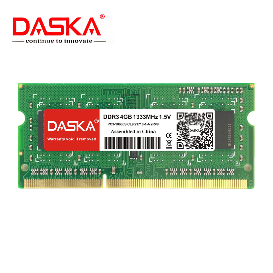 DASKA Laptop RAM Memory With 2GB 4GB 8GB 1600/1333 MHz Suitable for Laptop 2