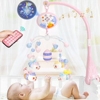 Baby Crib Mobiles Rattles Music Educational Toys Bed Bell Carousel for Cots Projection Infant Baby Toy 0 12 Months for Newborns