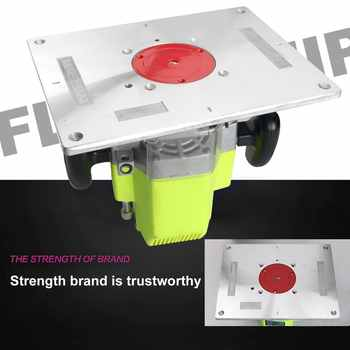 New Multi-functional Aluminum Alloy Router Table Insert Plate Trimmer Engraving Machine Woodworking Bench Router Plate
