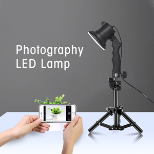 Image 5 - 1 Stuk Led Lamp Fotostudio Gloeilamp Portret Soft Box Vullen Licht Lichten Lamp En 37Cm Light Stand