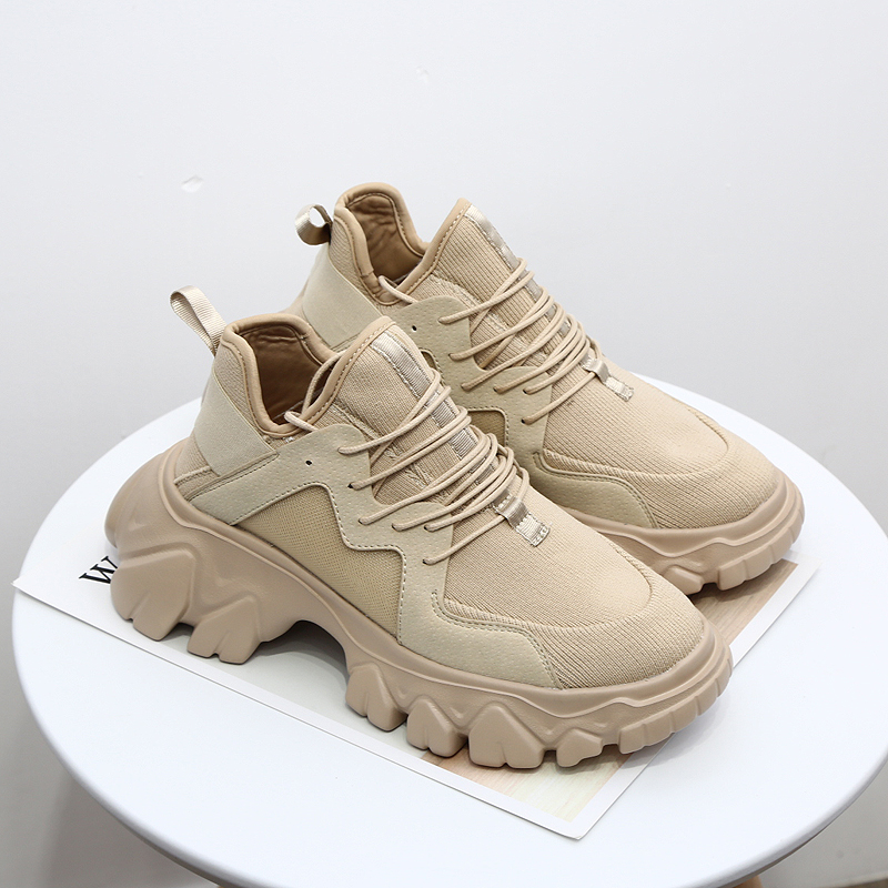 Celebrity Sneakers Women 2019 Spring Fashion Breathable Casual Cozy Flat Shoes Platform Shoes Outdoor Ladies Trendy Dad Sneakers