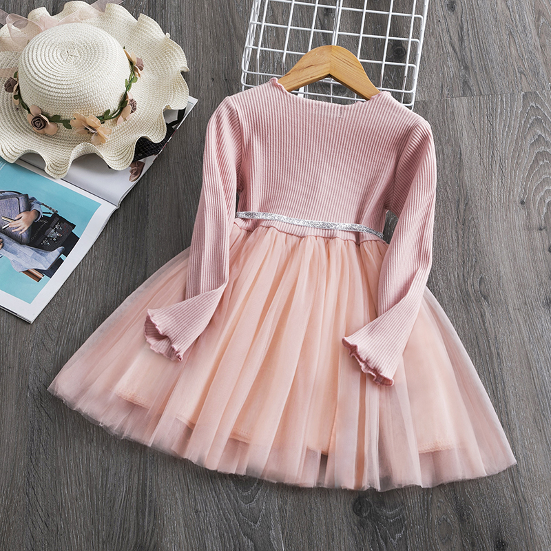 H615785a8b50d40adb3c5ce767726aa189 Red Kids Dresses For Girls Flower Lace Tulle Dress Wedding Little Girl Ceremony Party Birthday Dress Children Autumn Clothing
