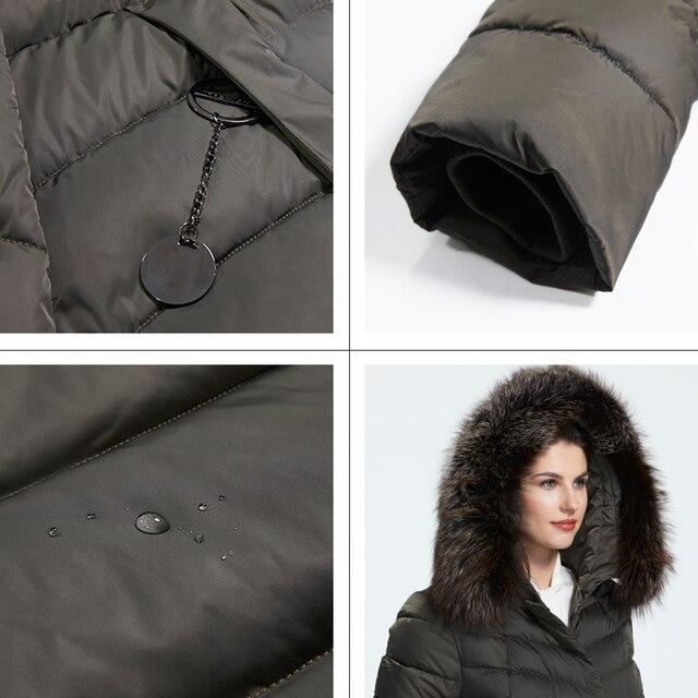 Astrid 2019 hiver nouveauté doudoune femmes avec un col en fourrure vêtements amples vêtements d'extérieur qualité femmes hiver manteau FR-2160 5