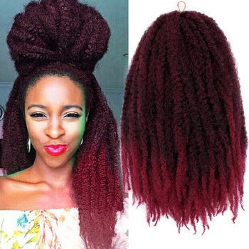 wignee 3 pcs lot spring curl crochet twist braids synthetic hair extensions for women high temperature kinky curly hair bundles 18 Marley Braids Twist Hair Afro Kinky Curly Crochet Braiding Hair Synthetic Marley Braids Hair Extensions for Women Outdoors