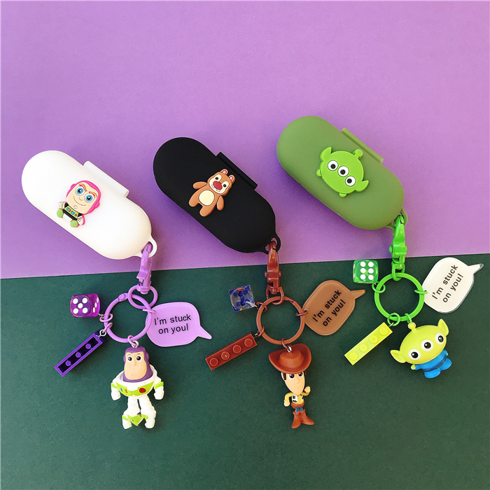Cute Cartoon Silicone Case For Huawei FreeBuds For Honor Flypods Lite Youth Version Earphone Protect Cover Decor Keyring Gift