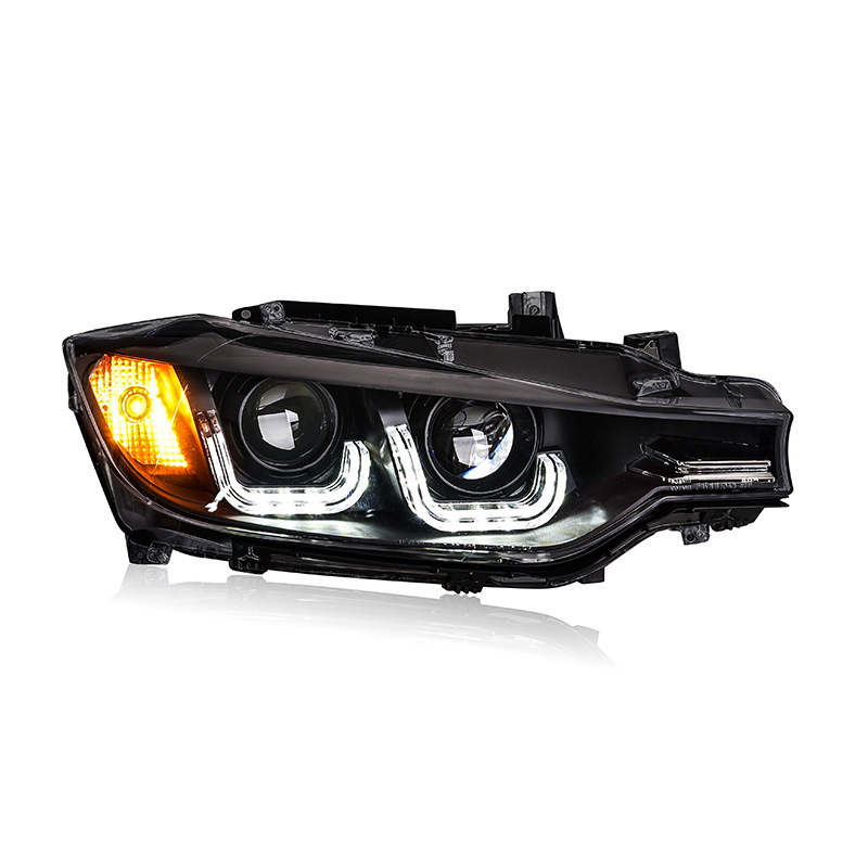 13-16 applies to <font><b>F30</b></font> based BM.W 3 modified xenon lamp <font><b>headlight</b></font> assembly bifocal lens <font><b>LED</b></font> lamp DRL image