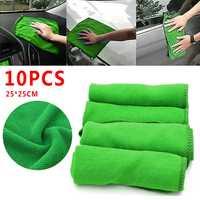 Pcmos 10Pcs Auto Asciugamano In Microfibra Panno Per Il Viso Auto Cura dell'auto Asciugatutto Per La Pulizia Morbido Panni Strumento Parabrezza Tende Da Sole 2019 Nuovo