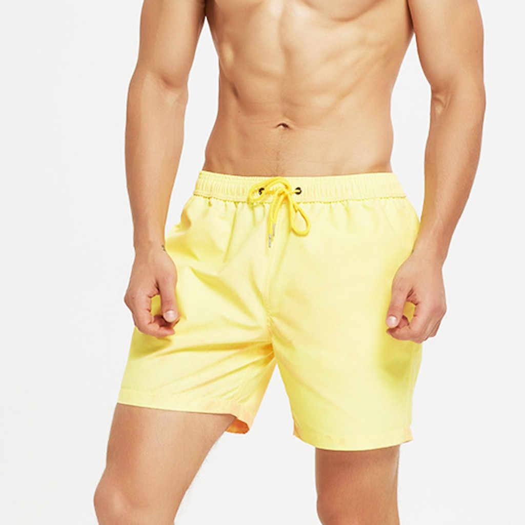 2019  Men's Clothing Beach surf Shorts High quality  Travel  Men Temperature-Sensitive Color-Changing Beach Pants Swim Trunks