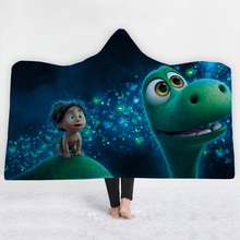 2019 Dinosaur 3D Hooded Blankets for Kid Adult Warm Portable Cartoon Printed