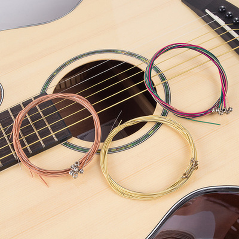 1Set High Quality Guitar Strings Classical Guitar String Set Pure Copper Strings E-A For Acoustic Folk Guitar Classic Guitar