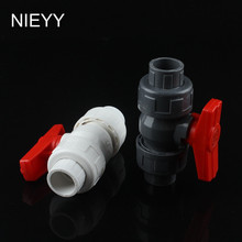 40mm PVC Ball Valve Shut Off Water Tool Caps Gate Garden Connectors For Irrigation