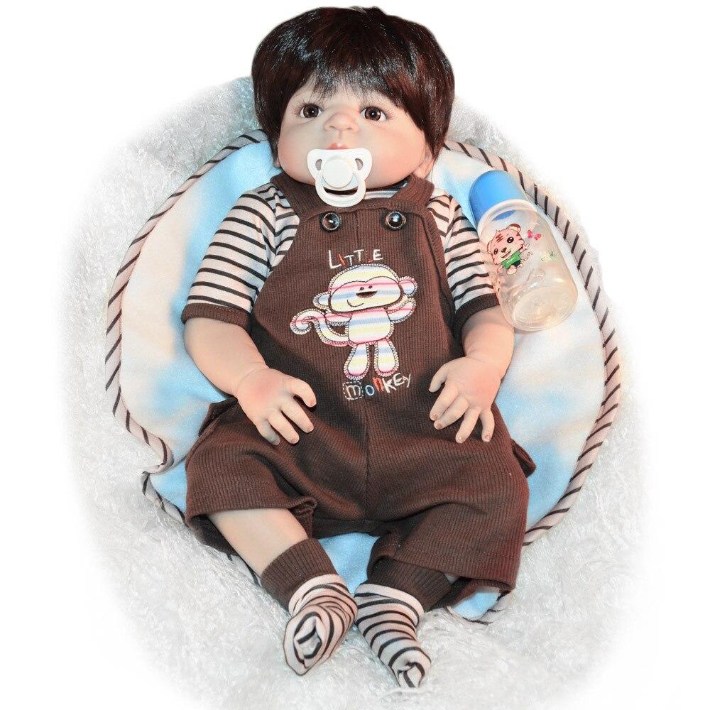 55CM premie bebes Reborn poupées réaliste nouveau-né bébé poupée doux corps entier silicone Boneca poupée lol noël Surprice - 2
