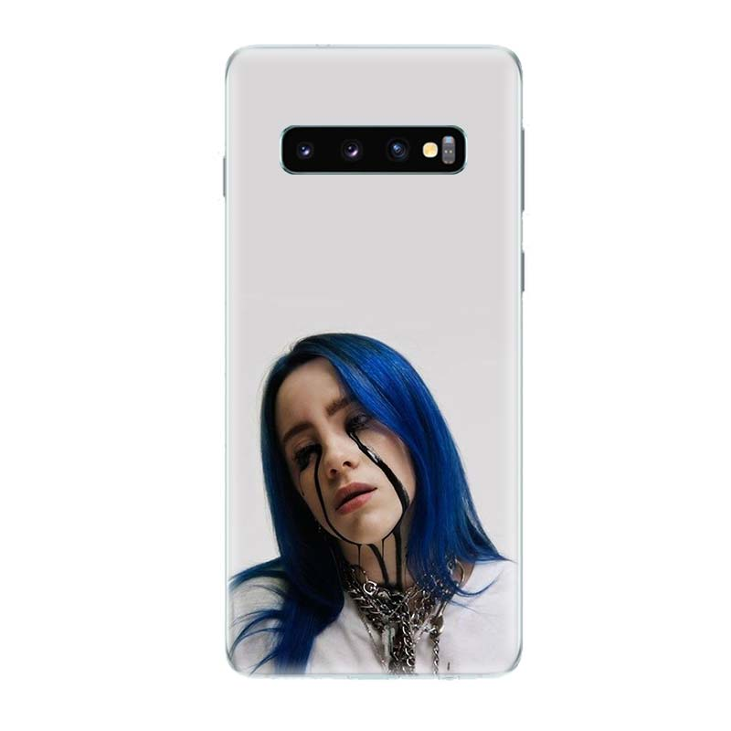 Billie Eilish Singer Popular Phone Case for Samsung Galaxy S10 Plus S10E A50 A70 A30 A10 A20E M40 M30 M20 M10 A20 A80 A40 Cover in Half wrapped Cases from Cellphones Telecommunications