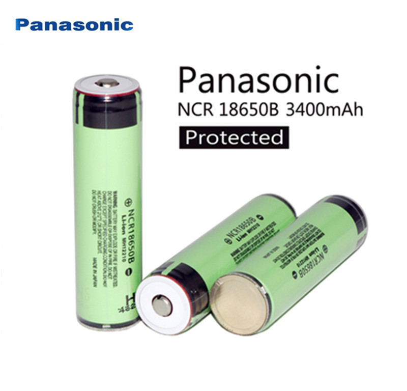 Free Shipping New Protected Original Panasonic 18650 NCR18650B 3.7V 3400mAh Rechargeable Li-ion Battery Batteries With PCB