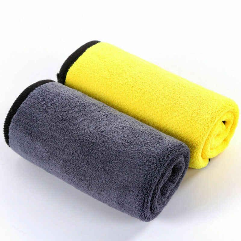 Paño de limpieza de microfibra 2020 Toalla de trapo pulido de coche sin rasguños detalles de automóviles paño de limpieza sólido