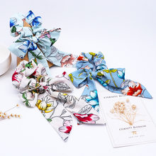 New Fashion Girl Hair Rope Ribbon Hair Bands Floral Scrunchies Bow Streamers Hair Ring Horse Tail Tie Headwear Hair Accessories(China)
