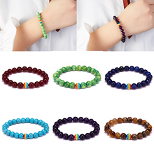 New Rainbow Pride Gay Bracelet Natural Stone Tiger Eye Red Agate Beaded Women Couple Friendship Jewelry