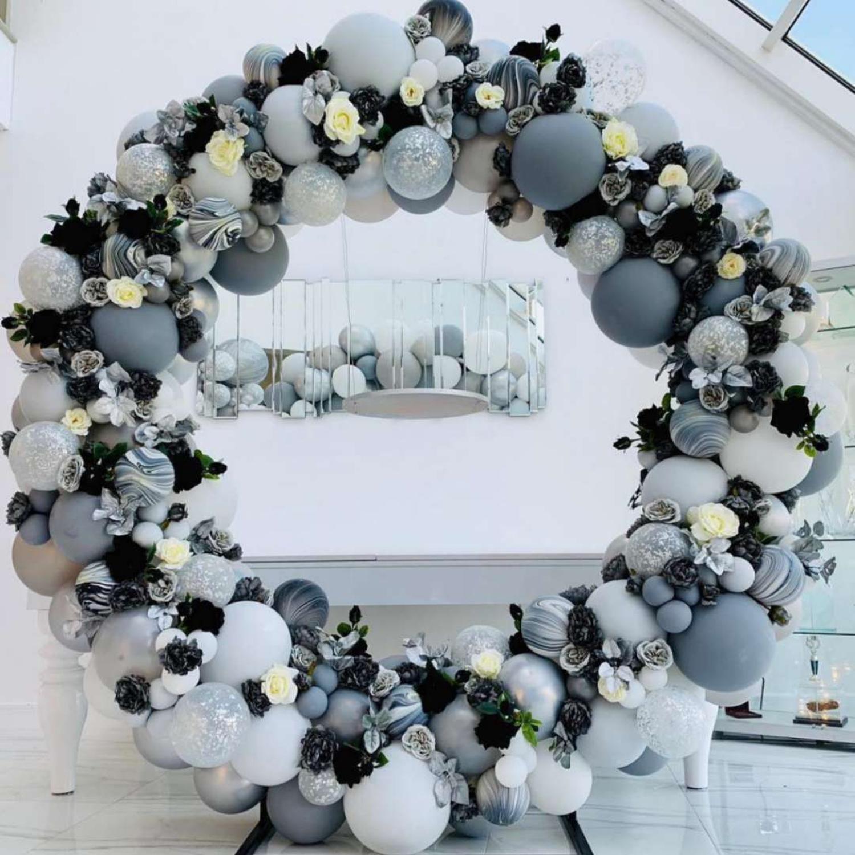 Ijzeren Cirkel Bruiloft Verjaardag Boog Decoratie Achtergrond Smeedijzeren Props Enkele Ballon Of Bloem Boog Outdoor Gazon Weg Gids - 4