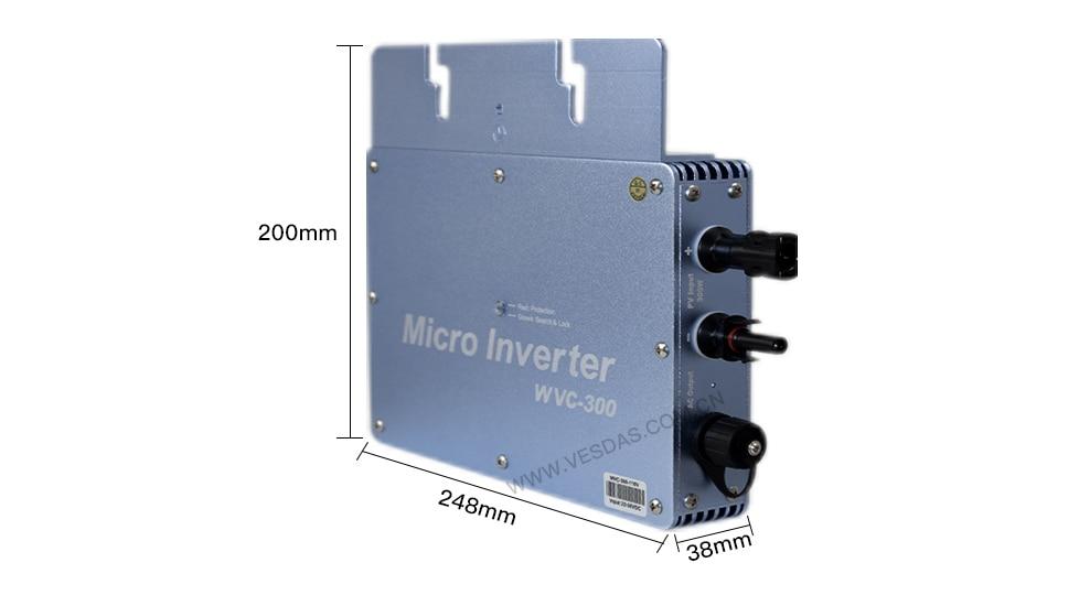 H6158ec2b7833424d9c15e1c45f4e5138Q - 300W Micro Inversor Solar MPPT Grid Tie Inverter Microinverter 24V 220V Pure Sine Wave Inverter 22-50VDC Wtih 1 Year Warranty