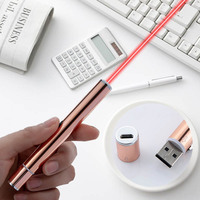 Jshefi 녹색  빨간색 레이저 펜 usb 충전식 aser 손전등 교육 지시 레이저 포인터 엔지니어링 건설 지시 펜 -