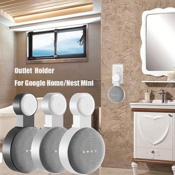 go google Outlet Wall Mount Holder for Google Home Mini (1st Gen) Google Nest Mini (2st Gen) Cord Management for Google Mini Smart Speaker