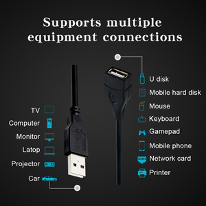 Image 2 - USB 2.0 Cable Extender Cord Wire Data Transmission Cables Super Speed Data Extension cable For Monitor Projector Mouse Keyboard