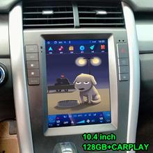 10 4 cal jednostka nawigacji GPS Tesla ekran radia multimedialny odtwarzacz wideo dla Ford Edge 2010 2011 Android10 Radio samochodowe Carplay tanie tanio OTOJETA CN (pochodzenie) podwójne złącze DIN 10 4 4*50 w 256G System operacyjny Android 10 0 JPEG frame+glass+metal