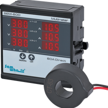 Samwha-Dsp SEM-XXD Digital Multimeter, Contains 3 C.T, Three Phase Volt(L-L),(L-N), Ampere ,Frequency, Phase Sequence Display
