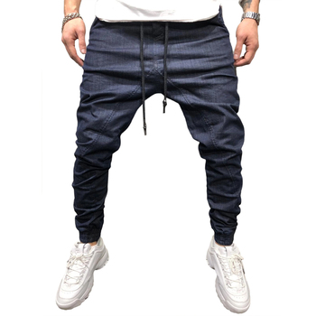 2020 Sports Fashion Men Pants Solid Color Drawstring Trousers Running Outdoor Casual Gym Pants Jogger Pants Male Cool Trousers