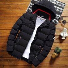 Winter Jacket Coat Parka Hooded Warm Men Windproof New-Fashion Casual Male Slim Youth