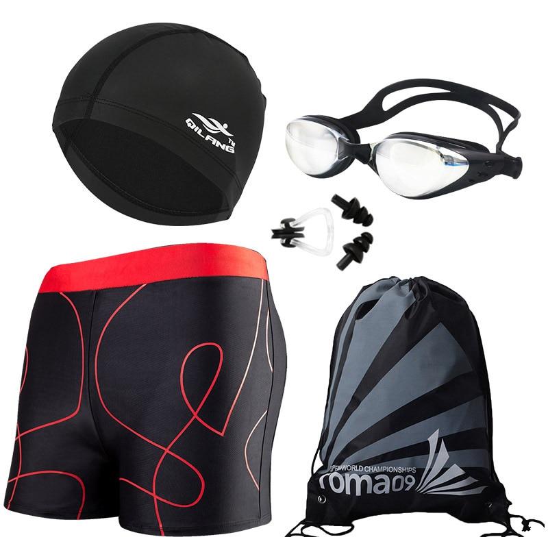 [Swimming Trunks Combo] Adult Printed Swimming Trunks Beach Slim Fit Shorts MEN'S Swimsuit Yk912