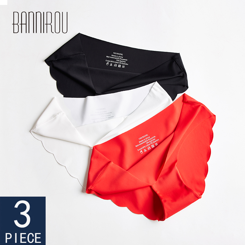 3 Pcs Seamless Panties For Woman Underwear Sexy Briefs Solid Female Panty Hot Sale Underwear For Women Seamless M-XXL BANNIROU