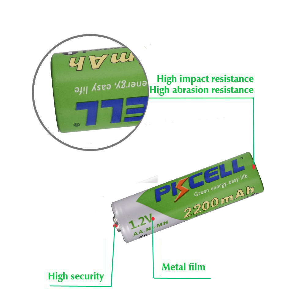 Image 5 - 8Pcs/PKCELL AA Battery NIMH 1.2V 2200mAh Ni MH 2A 1.2 Volt Low Self discharge Durable AA Rechargeable Batteries Bateria Bateriasbattery powered portable ipod speakersbattery light bulb circuitbattery compaq evo n610c - AliExpress