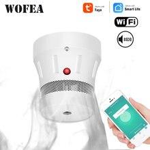 Wofea wifi смарт дымовой пожарной сигнализации дома безопасности