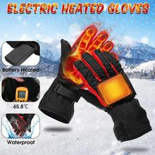 Motorcycle Battery-Type Heating Gloves Waterproof Winter Hand Warm Thicker Outdoor Sports Riding Fishing Cycling Heated Gloves savior motorcycle heating gloves riding racing biking winter sports electric rechargeable battery heated warm gloves cycling
