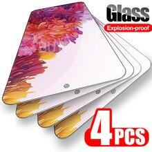 4 peças para samsung galaxy s20 fe 4g/5g vidro de segurança em óculos de proteção samsang s20fe capa completa glaxy s 20fe temperado glass hd