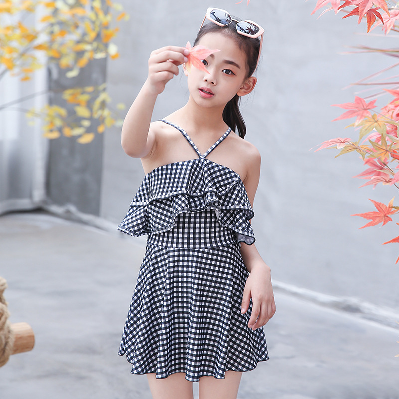 2019 New Style KID'S Swimwear Women's Sweet Camisole Split Type Middle And Large GIRL'S Swimsuit Princess Style CHILDREN'S Swims