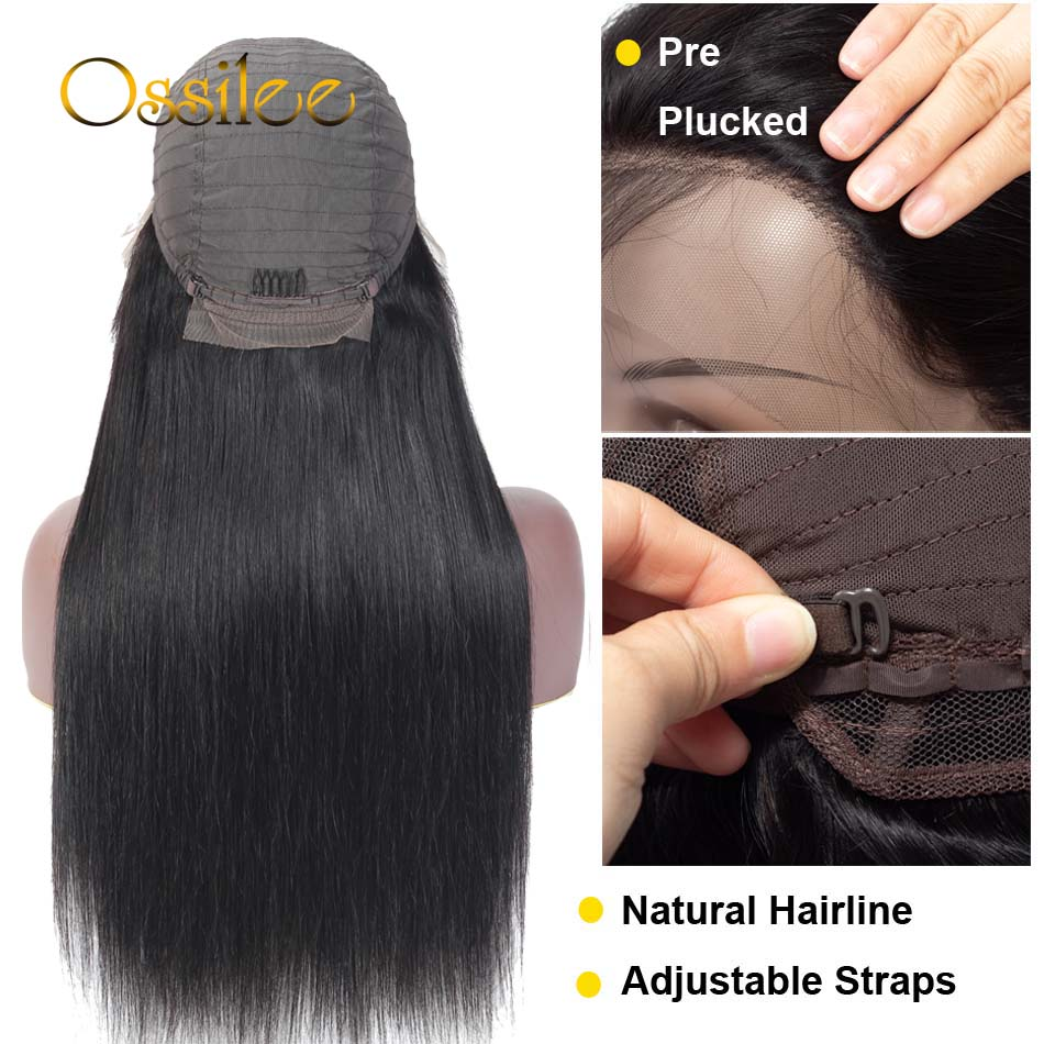 13x4/13x6 Straight Lace Front Human Hair Wigs 360 Lace Frontal Wigs Remy Brazilian Human Hair Lace Wigs for Women 250 Density 5
