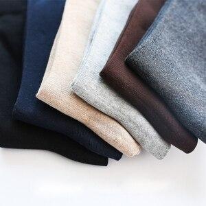 Image 5 - 2020 ชายชุดถุงเท้าผ้าฝ้ายผู้ชายการบีบอัดถุงเท้ายาวฤดูหนาวคุณภาพสูงสุภาพบุรุษ sokken 6 คู่ PLUS ขนาด EU41 48