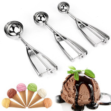 Ice Cream Scoop 4,5,6cm Stainless Steel With Trigger Cookie Scoop Spoon Frozen Cooking Tools Ice Cream Decorating Tool